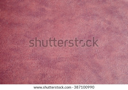 Close up red leather texture background - stock photo