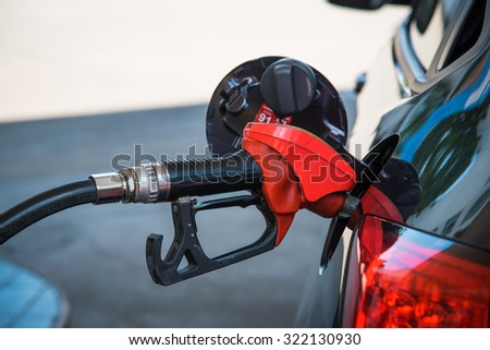 Close up refuel energy of the car