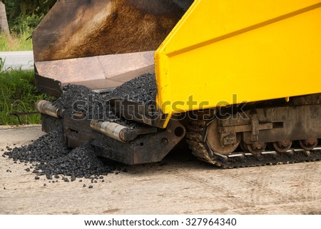 Close-up road under construction  - stock photo