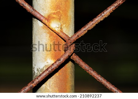 Close up Rusty Wire Vintage