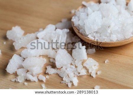 Close up salt food styling