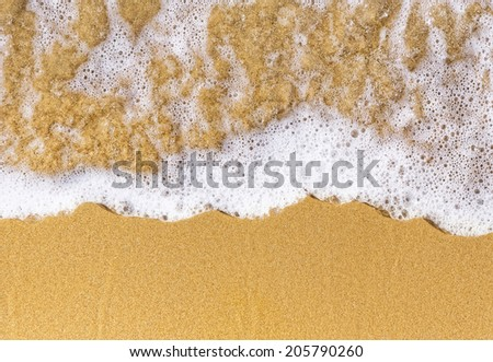 close up sand sea natural top view - stock photo