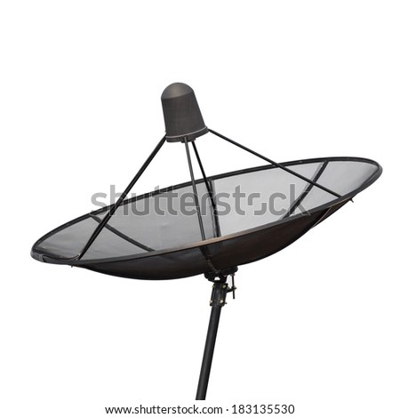 close up Satellite dish isolated on a white background  - stock photo