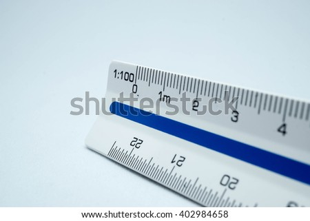 Close up scale ruler.
