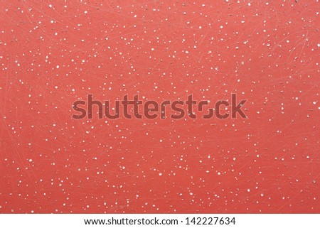 Close up scratched red painted texture background