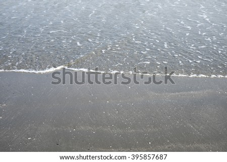 Close up sea and sand