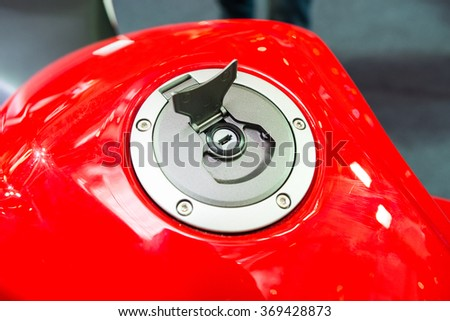 close up shot of a fuel tank cover