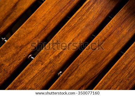 Close-up shot of a marimba keyboard - stock photo