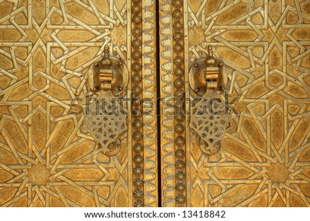 Close up shot of a Moroccan doorway - stock photo
