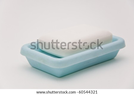 Close up shot of a white soap