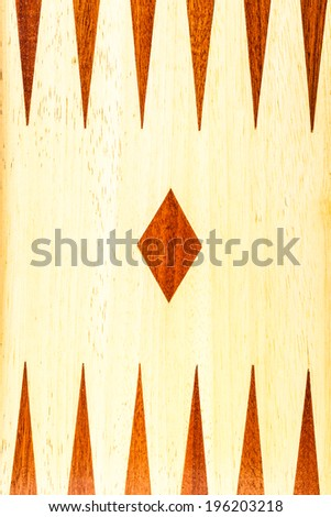 close up shot of a wooden backgammon board - stock photo