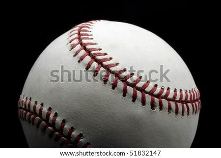 Close up shot of baseball with space for copy