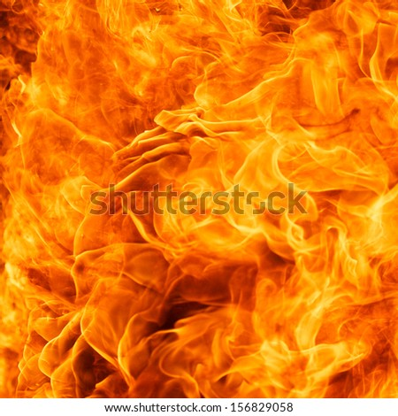 close up shot of blaze fire flame texture background - stock photo