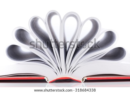 close up shot of book pages - stock photo