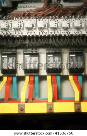 close up shot of cables in transformer