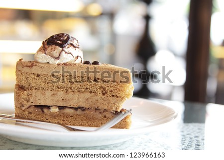close up shot of coffee cake