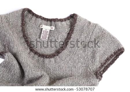 Close up shot of fashion garment - stock photo