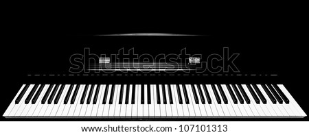 close shot full keys piano keyboard stock photo royalty free 107101313 shutterstock. Black Bedroom Furniture Sets. Home Design Ideas
