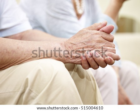 close-up shot of hands of a senior man in his 80's