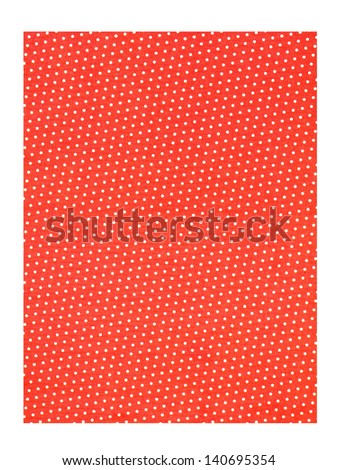 Close-up shot of orange polka dots file. - stock photo