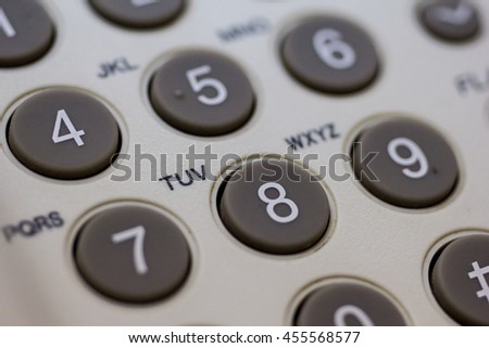 close up shot of phone keypad