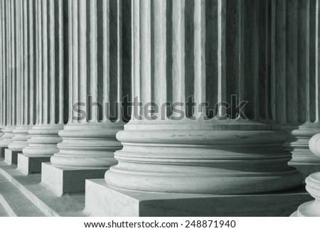 Close up shot of tall pillars