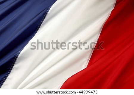 Close up shot of wavy French flag