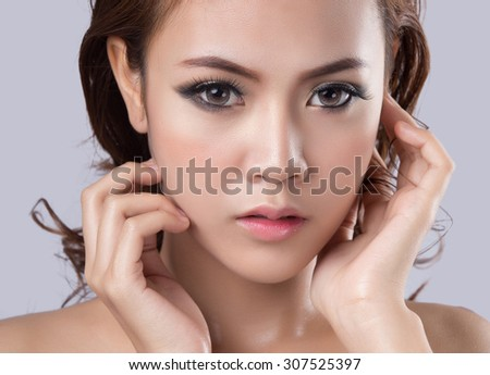 Close up shot of Young Woman
