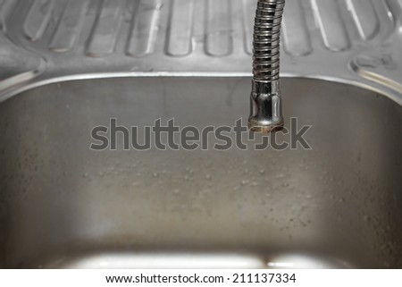 close up shot on water hose. - stock photo