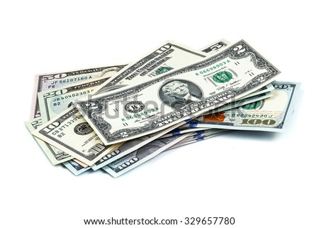 close-up shots macro lens from new one hundred dollars bills - stock photo
