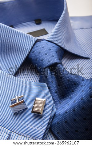 Shirt and tie stock images royalty free images vectors for Blue striped shirt with tie