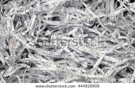 Close-up shredded documents - stock photo