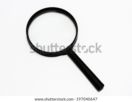 Close up Single Magnifying Glass