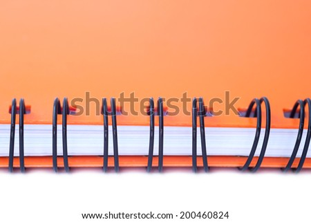 Close up Spiral bound note book - stock photo
