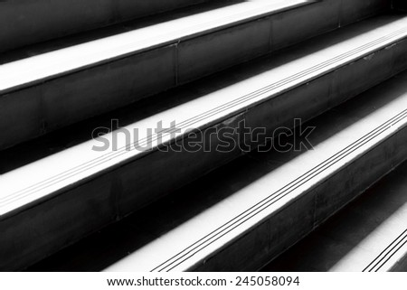 close up stair concrete in modern building