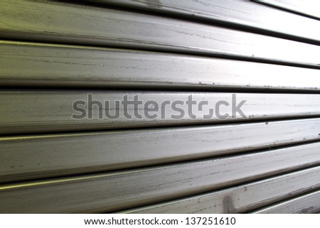 close up steel - stock photo