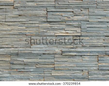 Close up stone brick wall pattern.  - stock photo