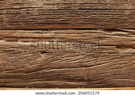Close up structure of dark wooden board, background - stock photo