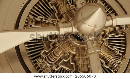 close-up technology abstract background. Jet engine inside. High resolution. 3D