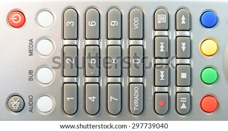 Close up Television and receiver remote control - stock photo
