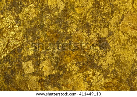 close up texture Golden background - stock photo