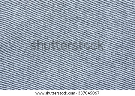 Close up texture of blue jean or denim fabric inside out