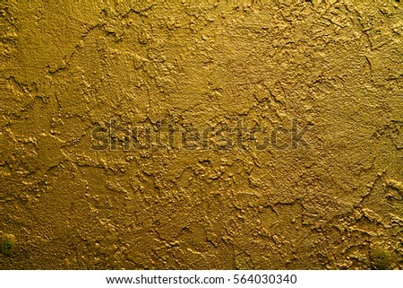 Close Texture Golden Decorative Plaster Wall Stock Photo 564030340 ...