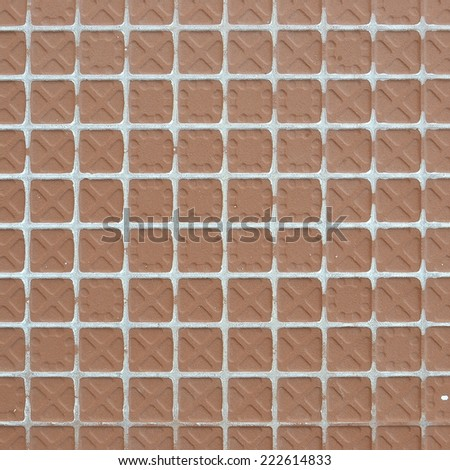 close up the rear of tile floor