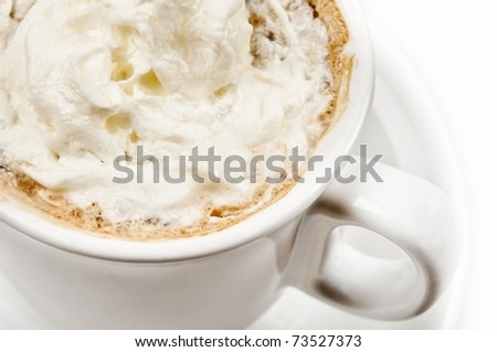Close-up to cup of coffee
