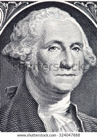 Close up to <b>George Washington</b> portrait on one dollar bill. - stock photo - stock-photo-close-up-to-george-washington-portrait-on-one-dollar-bill-324047888
