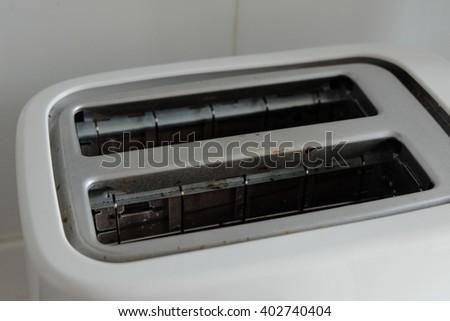 close up toaster - stock photo