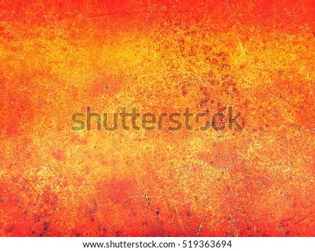 Close up top view of rustic grunge metal texture background