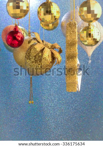 close up tree gifts and fire in christmas and newyear - stock photo