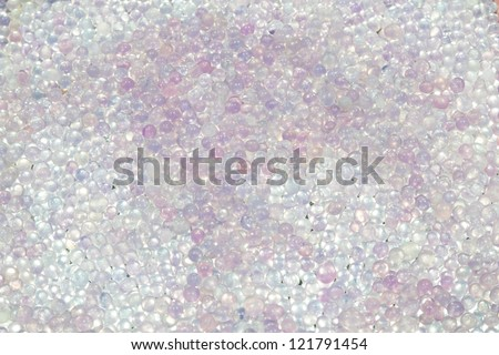 Close up used silica gel - stock photo